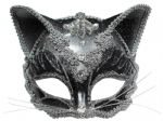 Jewelled Cat mask with headband or ribbons